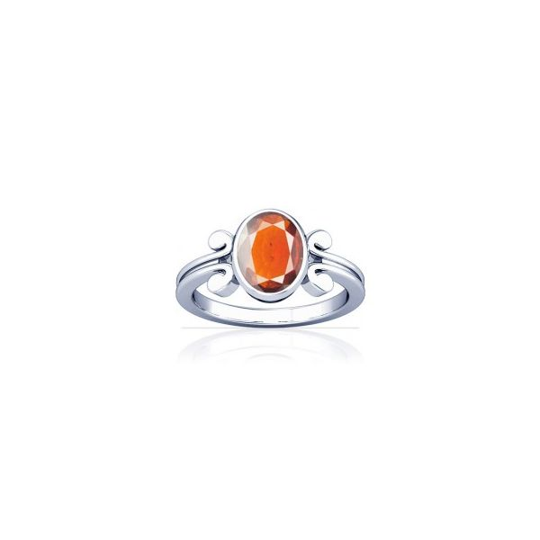 African Hessonite Sterling Silver Ring - K10