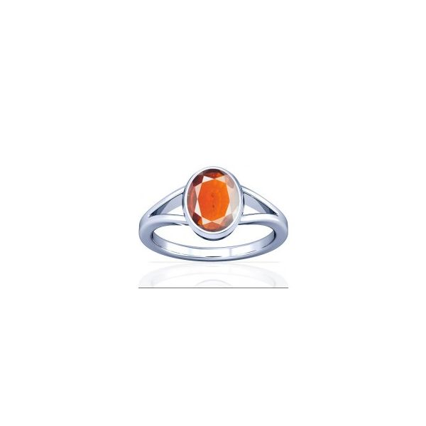 African Hessonite Sterling Silver Ring - K2