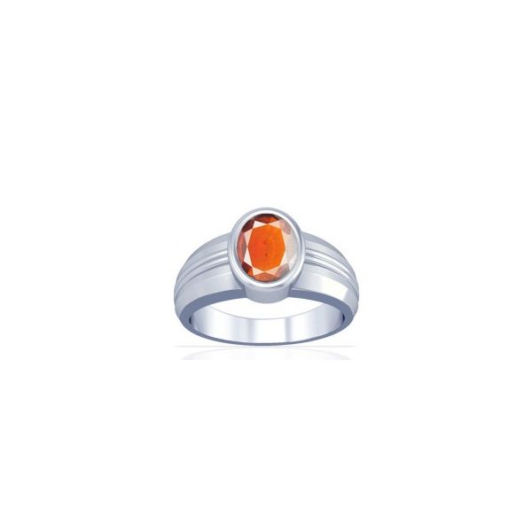African Hessonite Sterling Silver Ring - K4