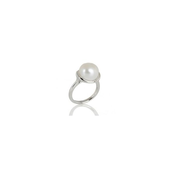 Natural Pearl Sterling Silver Ring - P5