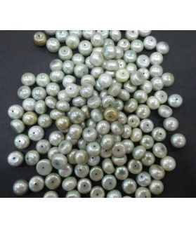 Button Shaped Fresh Water Pearl Half drilled 105/107_40.1
