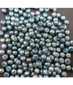Button Shaped Fresh Water Pearl Half drilled 105/107_43.1
