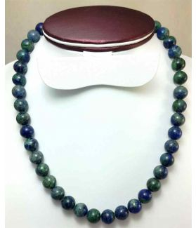 415 CT Blue Azurite Rosary BEAD SIZE 10 MM (LENGTH 19 INCH)