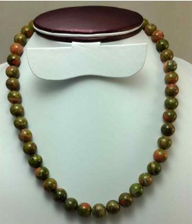 390 CT Unakite Rosary BEAD SIZE 10 MM (LENGTH 19 INCH)