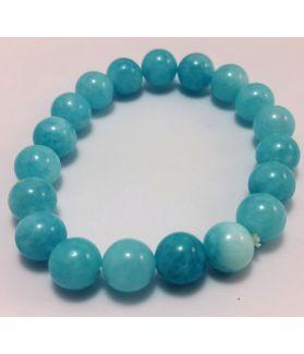 19 Gram  Aquamarine Bracelet 8 MM (Length 8 Inch)