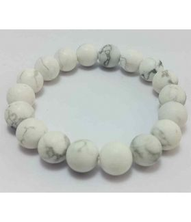 160 CT Howlite Bracelet Bead Size 10 MM (Length 8 Inch)