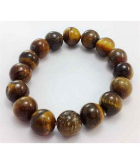 95 CT Tiger Eye Stone Bracelet Bead Size 8 MM (Bracelet Length 8 Inch)