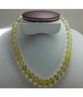 41 Gram Lemon Topaz Rosary  Bead Size 8 MM (Rosary Length 19 Inch)