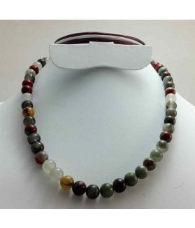 250 CT Blood Stone Rosary BEAD SIZE 8 MM (LENGTH 19 INCH)