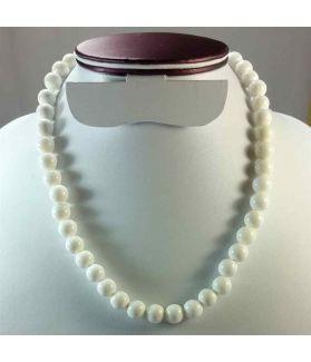 White Jade Rosary 66 Gram (Length 19 Inch)