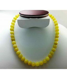 Lemon Jade Rosary 10 Gram (Length 19 Inch)