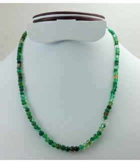 Dark Green Jade Rosary 11 Gram (Length 19 Inch)