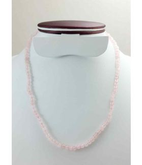 Light Pink Jade Rosary 10 Gram (Length 19 Inch)