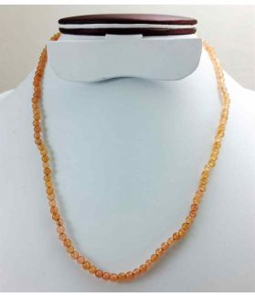 Orange Jade Rosary 13 Gram (Length 19 Inch)