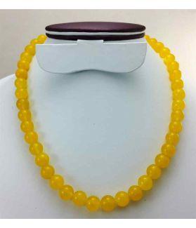 Yellow Jade Rosary 64 Gram (Length 19 Inch)