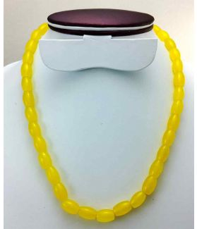 Yellow Jade Rosary 47 Gram (Length 19 Inch)