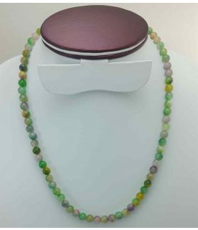 Mixed Color Round Jade Rosary 26 Gram (Length 19 Inch)