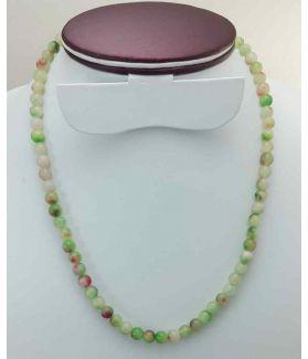 Multi Color Round Jade Rosary 27 Gram (Length 19 Inch)