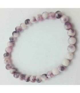 Grey & White Color Round Jade Bracelet 10 Gram (Length 8 Inch)