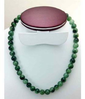 64 Gram Dark Green Jade Rosary Bead Size 10 MM (Rosary Length 19 Inch)