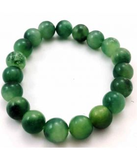 135 CT Dark Green Jade Bracelet Bead Size 10 MM (Bracelet Length 8 Inch)