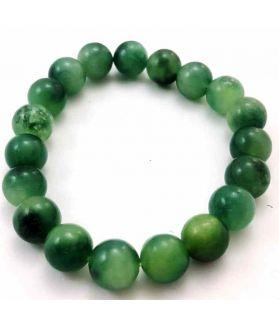 18 Gram Dark Green Jade Bracelet Bead Size 8 MM (Bracelet Length 8 Inch)