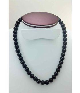 63 Gram Black Jade Rosary Bead Size 10 MM (Rosary Length 19 Inch)