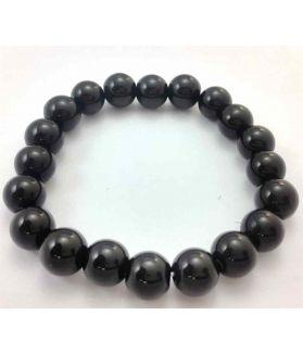26 Gram Black Jade Bracelet Bead Size 10 MM (Bracelet Length 8 Inch)