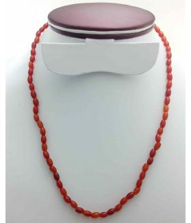 Red Jade Rosary 11 Gram (Length 19 Inch)