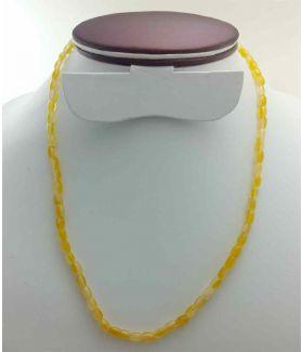 Yellow Jade Rosary 13 Gram (Length 19 Inch)