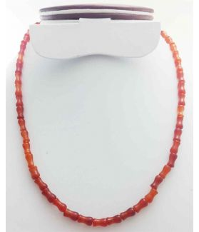 Brownish Red Jade Rosary 17 Gram (Length 19 Inch)