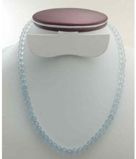 Aqua Blue Jade Rosary 16 Gram (Length 19 Inch)