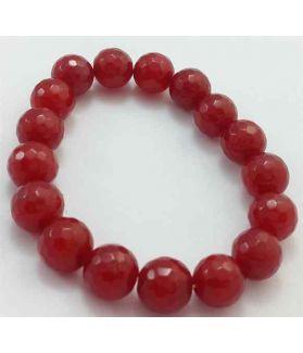 Pinkish Red Jade Bracelet 36 Gram (Length 8 Inch)