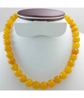 Orange Jade Rosary 81Gram (Length 19 Inch)