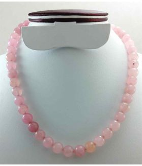 Light Pink Jade Rosary 62 Gram (Length 19 Inch)