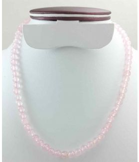 Light Pink Jade Rosary 26 Gram (Length 19 Inch)