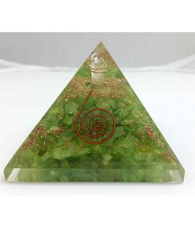 Crystal Quartz Orgone Copper Coil Pyramid  56 to 75 mm