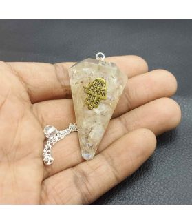 Healing Crystals Quartz  Pendulum  41 x 22 mm