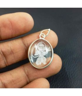 Hanuman Crystal Locket 15 x 22 mm