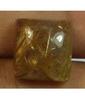 11.68  Golden Rutile Rectangular shaped 12.92x11.80x7.68mm