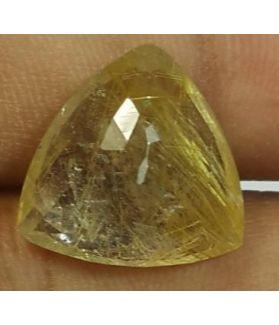 9.41  Golden Rutile Trilian Cut shaped 14.97x14.90x7.48mm