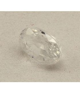 3.27 Carats Colorless Zircon Oval shape 9.60x5.70x4.80 mm
