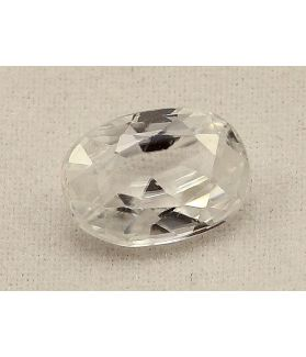 2.96 Carats Colorless Zircon Oval shape 9.60x6.80x4.10mm