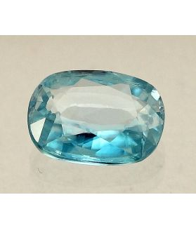 4.03 Carats Blue Zircon Oval shape 10.60x8.50x3.70mm