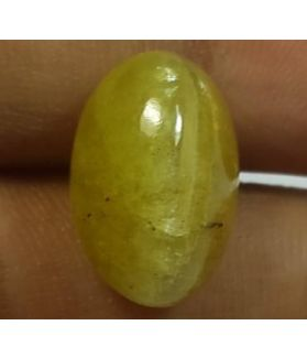 8.76 Carats Natural Apatite Cats Eye Oval Shape 14.39 x 9.59 x 7.28 mm