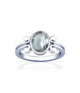 Sparkling White Zircon Sterling Silver Ring - K10