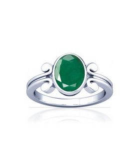 Colombian Emerald Sterling Silver Ring - K10