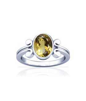 Natural Citrine Sterling Silver Ring - K10