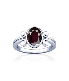Natural Garnet Sterling Silver Ring - K10