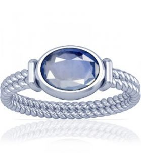 African Blue Sapphire Sterling Silver Ring - K11